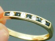 9ct Gold Sapphire & Diamond Hallmarked Eternity Ring size J