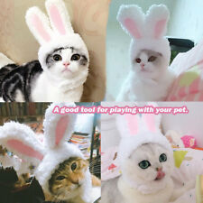 Cotton Rabbit Ear Headwear Kitten Decor Costume Hood Hat Cap for Pet Cat Dog