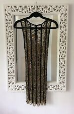 Topshop Limited Edition Black & Gold Beaded Sheer Dress, UK Size 10 Immaculate