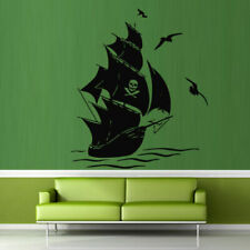 Wall Decal Ship Pirate Seagull Ocean Sea bedroom vinyl decor M230