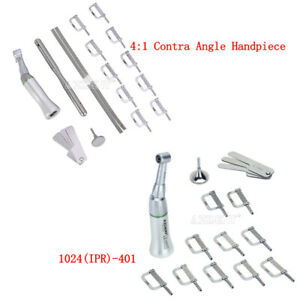 Dental 4:1 Reduction Contra Angle IPR Handpiece & 10PCs Interproximal Strips Kit