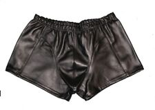 NEW MENS GENUINE LAMBSKIN REAL LEATHER SHORTS BOXER GAY FETISH MOST IN SIZE