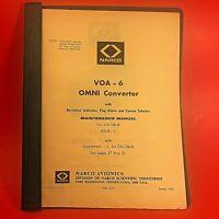 1963 Narco VOA-6 Omni Converter Maintenance Manual MM-210