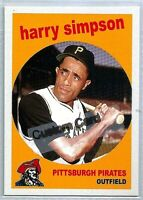 HARRY SIMPSON PITTSBURGH PIRATES 1959 STYLE CUSTOM MADE BASEBALL CARD BLANK BACK