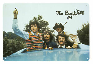 The Beatles BUS ROOF Metal Wall Sign Steel Plaque Gift (20cm x 30cm)