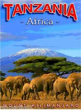 Tanzania Mount Kilimanjaro Africa African Travel Art Poster Advertisement