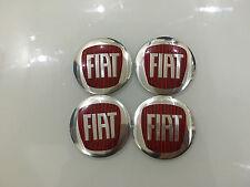 4PCS FIAT 56mm Auto Car Wheel Center Hub Cap Emblem Badge Decal Sticker