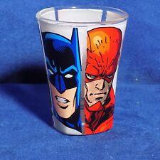 JUSTICE LEAGUE SHOT GLASS - SUPERMAN BATMAN GREEN LANTERN FLASH JOKER -  EUC