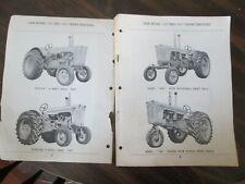 Case Model 700 & 800 Series Tractors 1961 Parts Manual