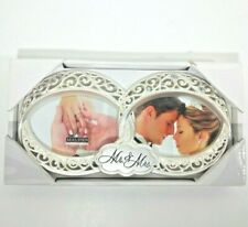 Malden International Designs Wedding Mr & Mrs Double Picture Frame 4x4 2 Photos