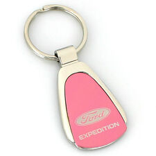 Ford Expedition Pink Tear Drop Metal Key Ring