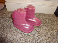 UGGS SZ SMALL S PINK SPARKLE BOOTS INFANT BABY