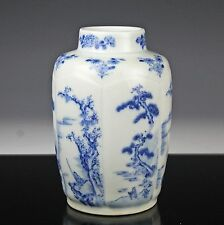CHINESE BLUE WHITE KANGXI STYLE PORCELAIN VASE W MARK