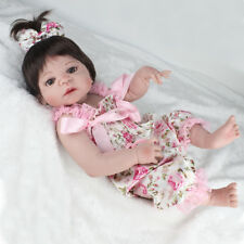 "22"" Reborn dolls Full Silicone Body Babies Lifelike Doll Xmas Gifts Toddler Toys"