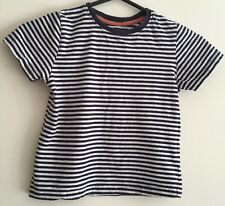 Boys Striped Short Sleeved T-shirt Size 5-6 Years