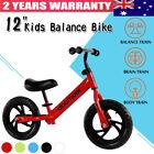 """Balance Bike Kids Toddler Baby Girl Boys Training Push Ride on Toys Bicycle 12"""""""