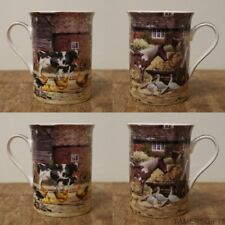 BOXED HORSE COW COUNTRY FARM ANIMALS RED BROWN GREEN FINE CHINA MUG GIFT PRESENT