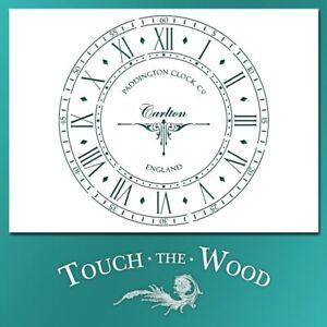 Shabby Chic STENCIL: Old English Paddington Clock Face (DIY Print Transfer) #068