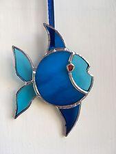 HAND-made pesce vetro colorato con la bocca Suncatcher Finestra Decorazione Regalo