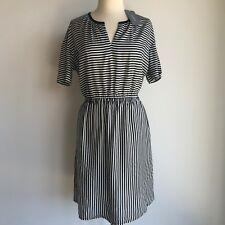 Country Road Sz 16 Trenery Mixed Black Stripe Dress - XL CR Love