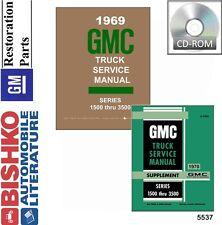 1969 1970 GMC Truck Shop Service Repair Manual CD Engine Drivetrain Electrical