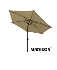 Madison Sonnenschirm 3 m Ten Kurbelschirm Gartenschirm knickbar Alu 300 cm natur