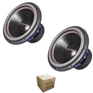 "2 x American Bass 15"" HD Series 8000W Dual 2 Ohm Subwoofer HD15D2-V2"