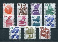 Bund 694 - 703 R + 773 R postfrisch alle mit Nr. Rollenmarken Unfallverhütung
