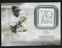 2021 Topps Series 1 FRANK THOMAS 70th Patch #70LP-FT WHITE SOX