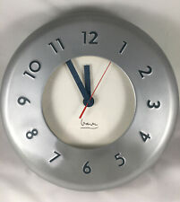 Michael Graves Silver Art Deco Wall Clock for Projects
