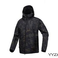Waterproof Mens Tactical Soft Shell Jacket Coat Army Military Jacket Windbreaker