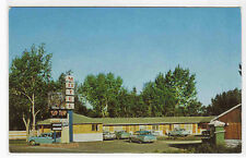 Tip Top Motel Cars Wolf Point Montana postcard