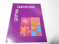 1975 VINTAGE CATALOG #2218 -  AURORA TOYS - GAMES