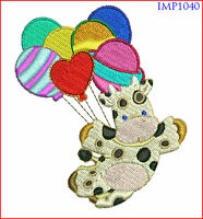 CUTE BIRTHDAY BABY ANIMALS - 10 MACHINE EMBROIDERY DESIGNS - 2 SIZES