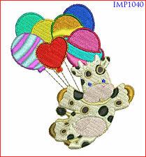 CUTE BIRTHDAY BABY ANIMALS - 10 MACHINE EMBROIDERY DESIGNS - 2 SIZES