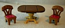 Loving Family Dollhouse Dining Table and 2 Chairs Replacement Pink Cushion FP