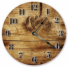 """10.5"""" TREE KNOTTED WOOD CLOCK - Large 10.5"""" Wall Clock - Home Décor Clock - 3153"""