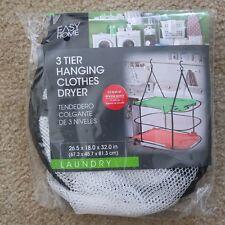 3 tier hanging Drying Rack Clothes Dry Hanger Dryer Indoor