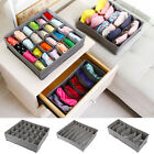 3pcs Underwear Bra Socks Ties Divider Closet Container Storage Box Organizer Pop