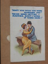 Humour postcard  Don't I wish it was Dark posted 1923 B.B series No 2100 xc3
