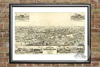 Old Map of Longwood, FL from 1885 - Vintage Florida Art, Historic Decor