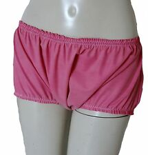 Rubber Briefs Knickers Baggy  Panties Boy Shorts Adult Baby XXL Hotpants Pink