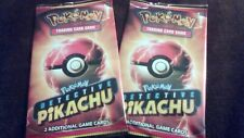 TWO Detective Pikachu Movie Theater PROMO Card Packs (2 Packs) BRAND NEW Sealed