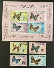 Malawi. Butterflies Set & Mini Sheet. SG247/50. 1966. MNH. (MSC25)