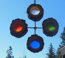 Handmade  Stained Glass Suncatcher ( made from real tree branches )