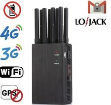 8 Antenna High power portable jammer GPS WiFi 3G 4G UHF VHF LoJack Jammer