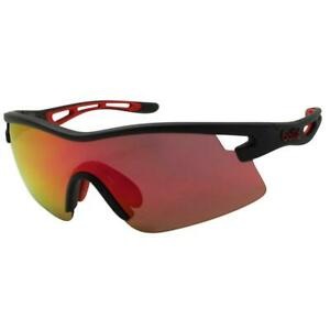 Bolle 12265 Vortex Matte Black Red w/ Fire Mirror Lens Mens Sports Sunglasses .