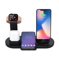 7 IN 1 Qi Wireless Charger Dock Station Fast Charging for iphone Watch Airpods