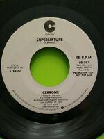 """CERRONE: Supernature / Supernature 7"""" 45 RPM Record PROMO"""