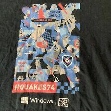 Vintage SAN JOSE EARTHQUAKES CLASH MLS Windows Soccer Football Sz Small T Shirt